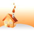 maison et feu