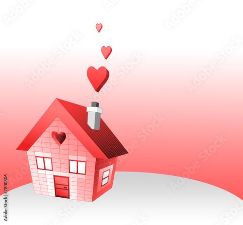 maison et amour photo libre de droits sur la banque d 39 images image 7800806. Black Bedroom Furniture Sets. Home Design Ideas