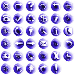 sphere icons set 1 purple