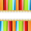 Colored pencils colorful background