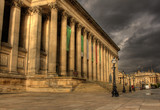 Columns on St Georges Hall, Liverpool HDR poster