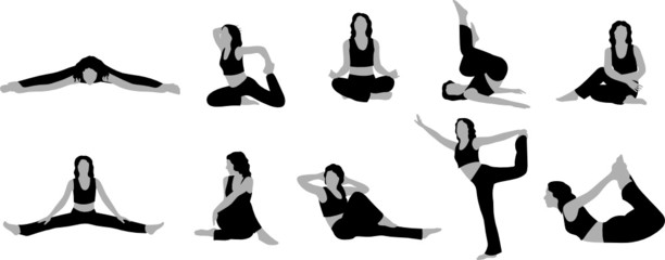 yoga girl vector 2