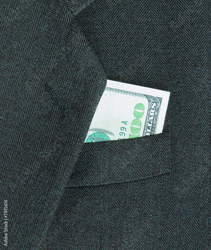 coat and money