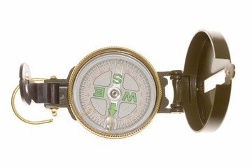 New compass on white background