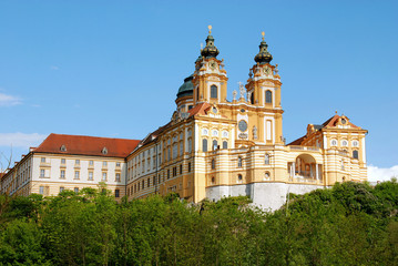 Melk monastery,world heritage,abbey in Austria