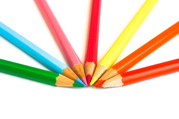 Set of pencil isolated on white background