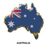 Australia metal pin badge poster