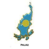 Palau metal pin badge poster