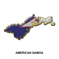 American Samoa metal pin badge