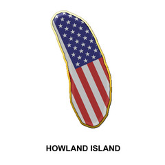 Howland Island metal pin badge