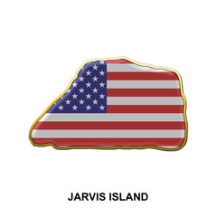 Jarvis Island metal pin badge