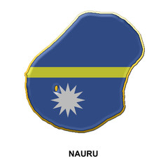 Nauru metal pin badge
