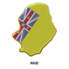 Niue metal pin badge
