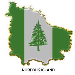 Norfolk Island metal pin badge