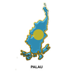 Palau metal pin badge