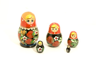 One matryoshka arranged apart