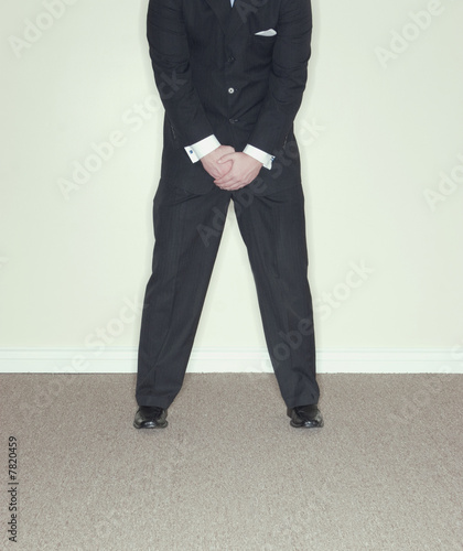 businessman crotch
