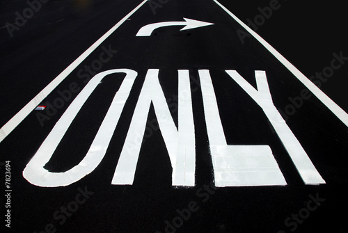 poster of Right turn only or conservative political direction