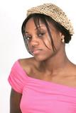 African American girl closeup portrait poster