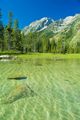 Mountain lake in Grand Teton National Park, Wyoming