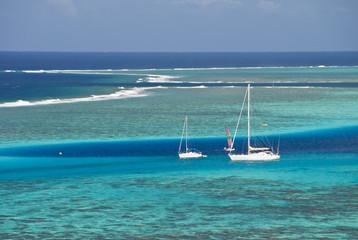 Sailing in Moorea, Polynesia