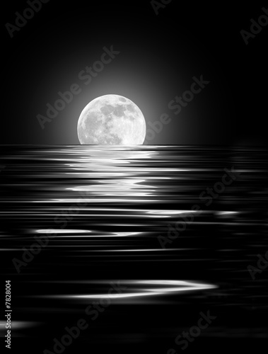 Zdjęcia na płótnie, fototapety na wymiar, obrazy na ścianę : Moon Glow