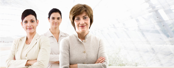 Business banner - three businesswomen