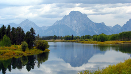 Mt. Moran at Oxbow Bend of Snake River, Wyoming