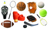 Various Sports Items poster