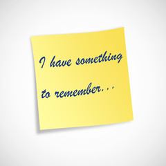 Post-it something to remember
