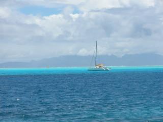 catamaran en polynésie
