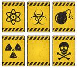 Hazard sign poster