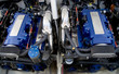 Leinwanddruck Bild - Speed boat engines