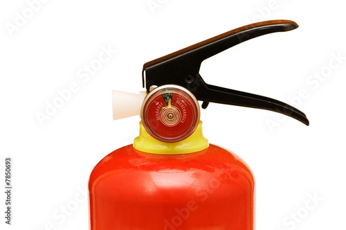 Fire extinguisher isolated on the white background