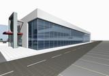 Fototapety 3D render of modern building