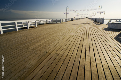 the pier in Sopot
