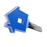 isolated blue key
