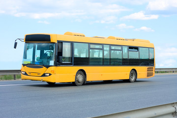 public transport - yellow bus