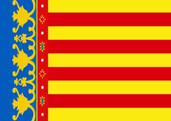 bandera de valencia. real señera. españa