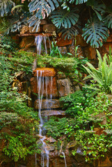 A beautiful small tropical waterfall