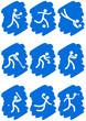 Pictogrammes des jeux olympiques d'été peinture bleu(partie 3)