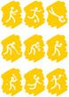 Pictogrammes des jeux olympiques d'été peinture jaune(partie 3)