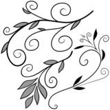 Floral elements F - popular floral segments poster