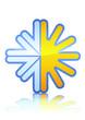 Symbole de la climatisation (métal reflet)
