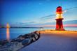 Fototapete Sonnenuntergang - Ostsee - Hafen