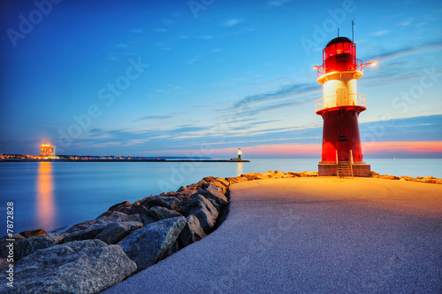 Fototapete Sonnenuntergänge - Ostsee - Hafen