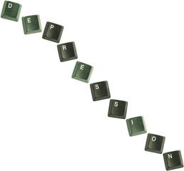 Depression keyboard keys