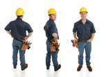 Construction Worker Three Views