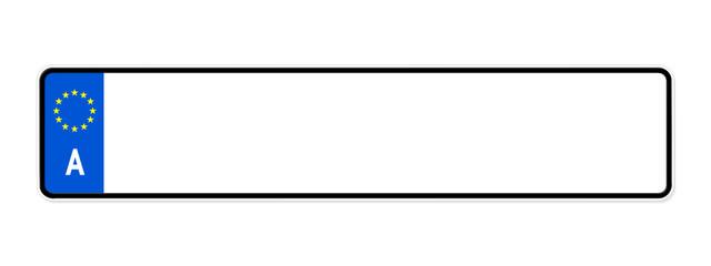 kennzeichen blanko (österreich)