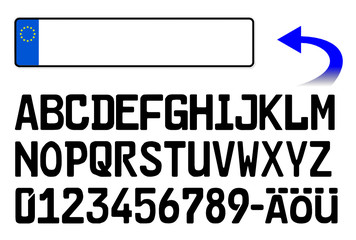 blanko-nummernschild
